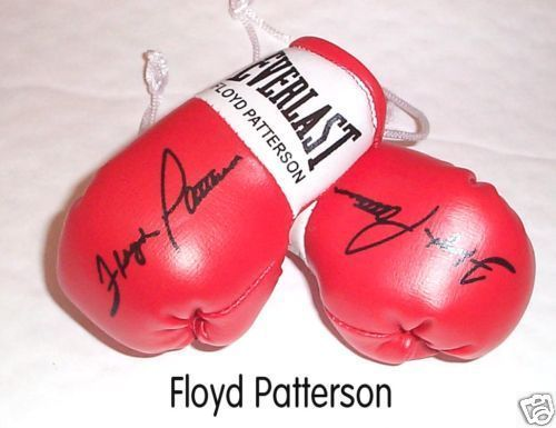 Autographed Mini Boxing Gloves Floyd Patterson
