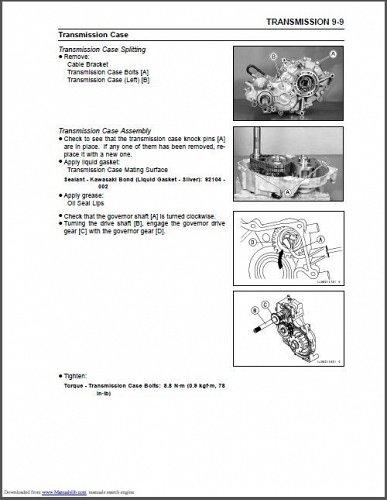 2001-2007 Kawasaki Mule 3010 / 3020 / 3000 UTV Service Manual on a CD