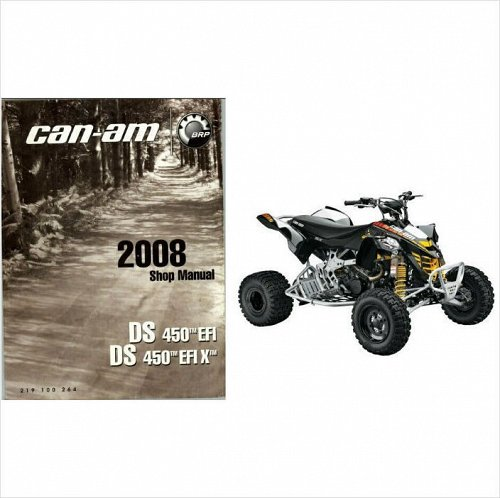 2008-2009-2010-2011-2012-2013 Can-Am DS 450 EFI / EFI X Service Manual on a CD