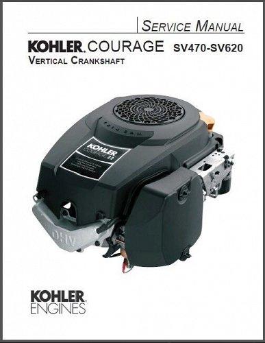 Kohler Courage SV470 - SV620 Engine Models Service Repair Manual on a CD