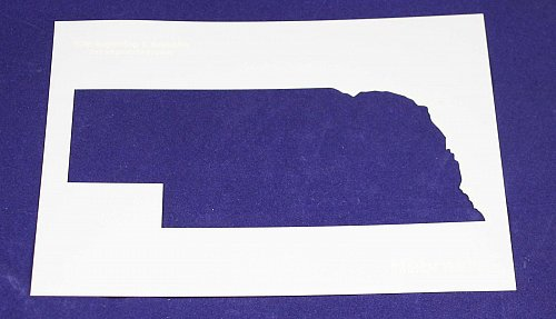 State of Nebraska 8x10 inch Stencil -14 mil Mylar Painting/Crafts