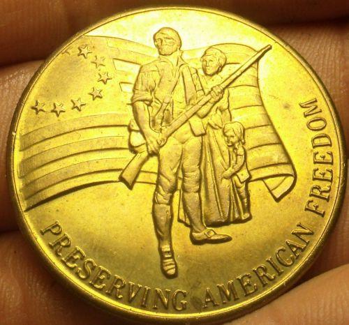 Honoring The American Veteran Preserving American Freedom Bronze Medallion 39mm