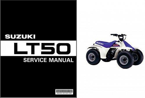 1984-2001 Suzuki LT50 QuadRunner 50 ATV Service Manual on a CD