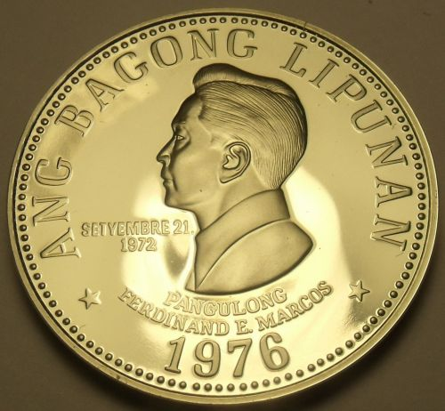 Philippines 1976 5 Piso Proof~Large~9,901 Minted~Fernidad Marcos~Free Shipping