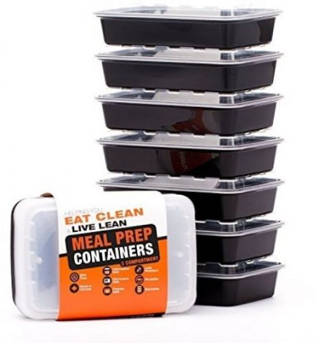 2 Compartment Meal Prep Containers - Certified BPA-free - Reusable, Washable,