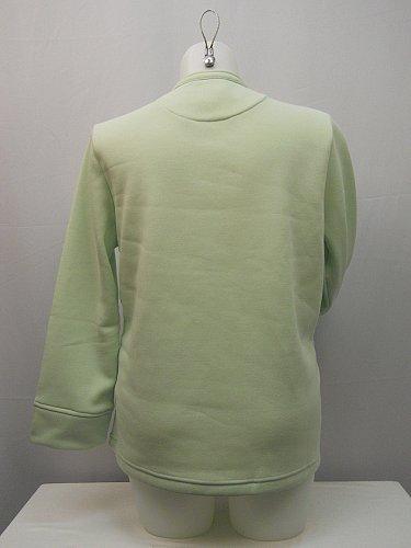 Fleece Jacket SIZE L Womens Button TUDOR COURT Solid Mint Long Sleeve Career