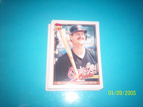 1991 Topps Traded glenn davis orioles #28T mint free ship