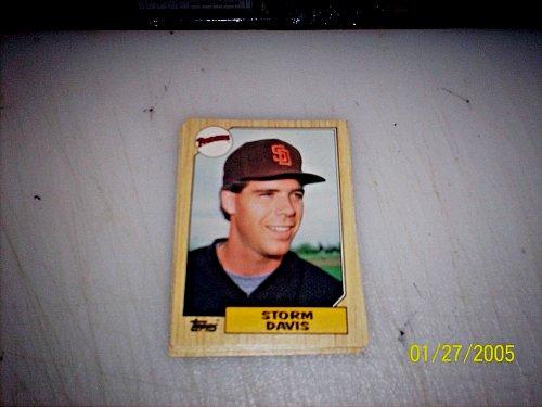 1987 Topps Traded Baseball STORM DAVIS PADRES #T26 FREE SHIPPING