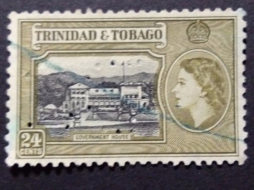 Trinidad and Tobago 1v Used Stamp 1953 SG 275 Government House