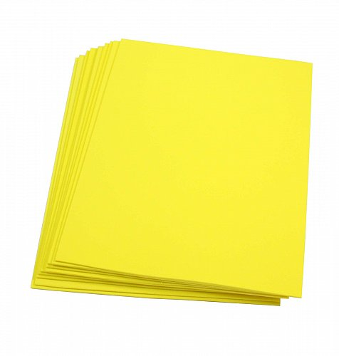 Craft Foam Sheets--9 x 12 Inches - Yellow - 10 Sheets-2 MM Thick