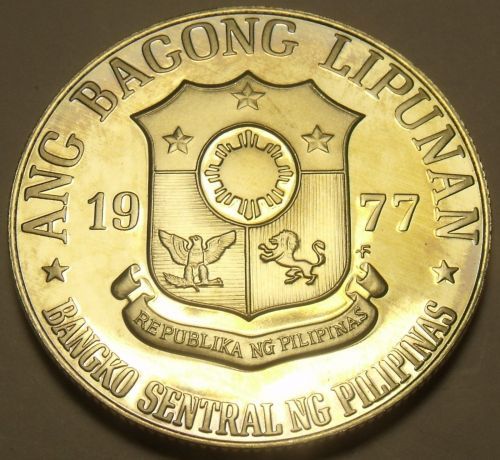 Philippines 1977 Piso Proof~Rare~Only 4,822 Minted~Jose Rizal~Free Shipping