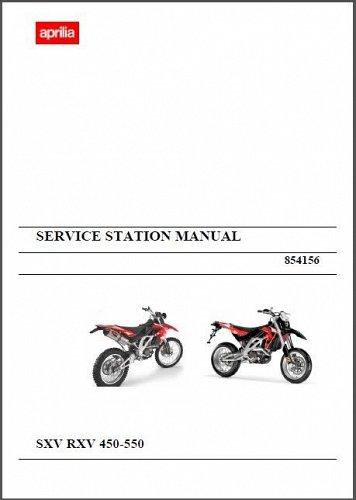 07-13 Aprilia RXV / SXV 450 550 Service Repair Workshop Manual CD . 4.5 5.5