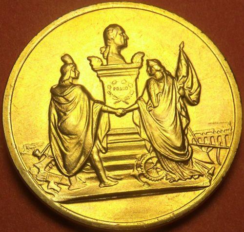 Gem Unc Andrew Johnson Presidential Bronze Inauguration Medallion~Free Shipping