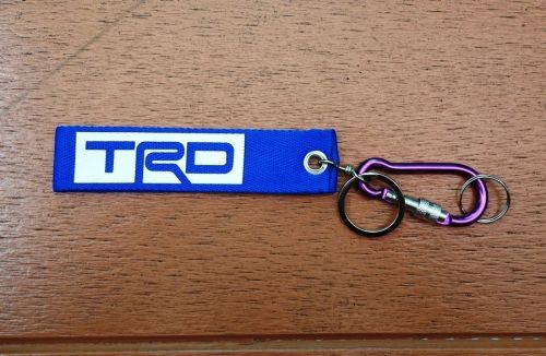 1 Embroidered Fabric Screen TRD Keychain Keyring Key Holder Tag Motorcycle