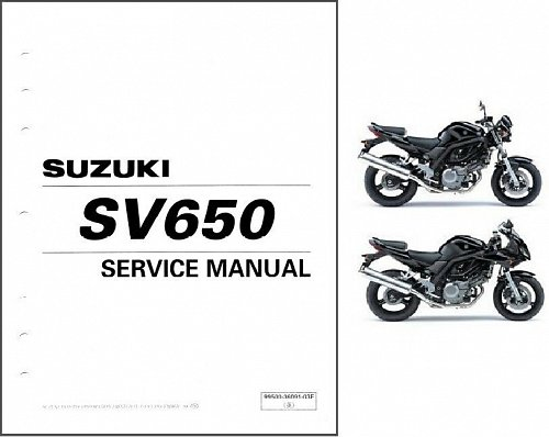2003-04-05-06-07-08-2009 Suzuki SV650 / SV650S Service Manual on a CD