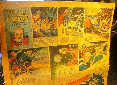 Sunday Newspaper Comics FLASH GORDON Oct. 3, 1948 Raboy Don Moore SPECTACULAR