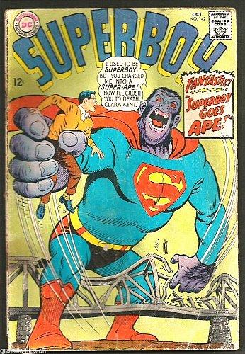 SUPERBOY #142 DC COMICS Super-Ape 1967 Silver Age Comic