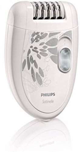 Philips HP6401 Satinelle Epilator, White/Gray--Open box