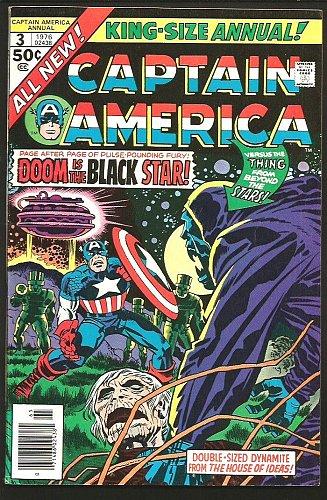 CAPTAIN AMERICA ANNUAL #3 VF/ 1976 JACK KIRBY ART Marvel Comics Whole Story