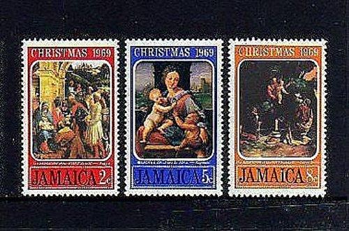JAMAICA mnh SET OF 3 1969 - CHRISTMAS - MADONNA