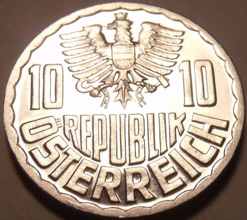 Proof Austria 1965 10 Groschen~Imperial Eagle~Free Shipping