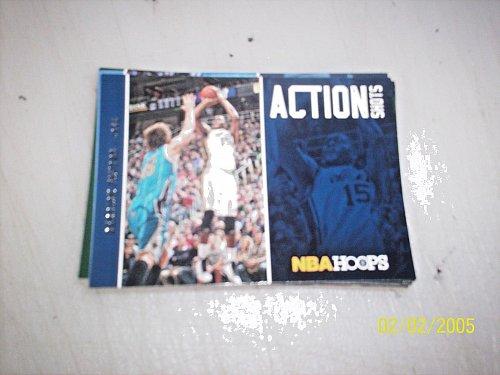 2013-14 Hoops Action Shots jazz Basketball Card #16 derrick favors free ship