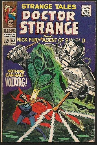STRANGE TALES #166 DR STRANGE STERANKO on SHIELD 1967 Marvel Comics VG+/FINE-