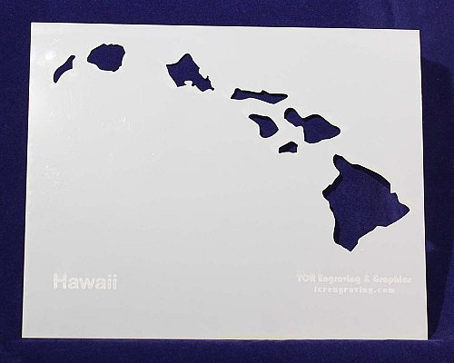 State of Hawaii Stencil -14 mil Mylar Painting/Crafts