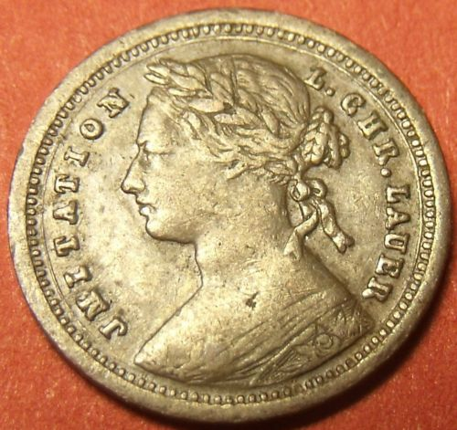 Great Britain Lauer One Penny Jeton Token Unc~Made In The 1800's~Free Shipping