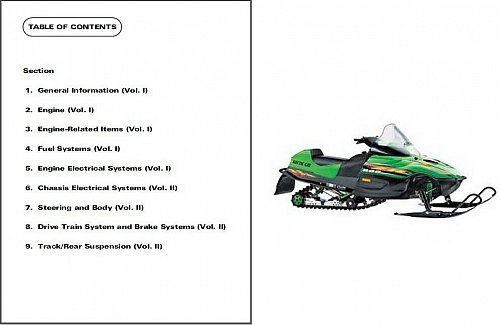 2000 Arctic Cat Snowmobiles Service Repair Manual CD Z ZL ZR ZRT Panther Powder