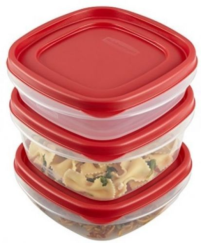 Rubbermaid Easy Find Lid Food Storage Container, 20-Piece Set, Red (1783142)