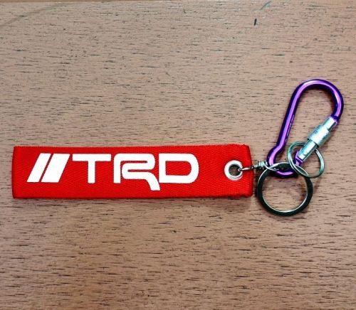 TRD Screen Embroidered Fabric Keychain Keyring Key Holder Tag Motorcycle