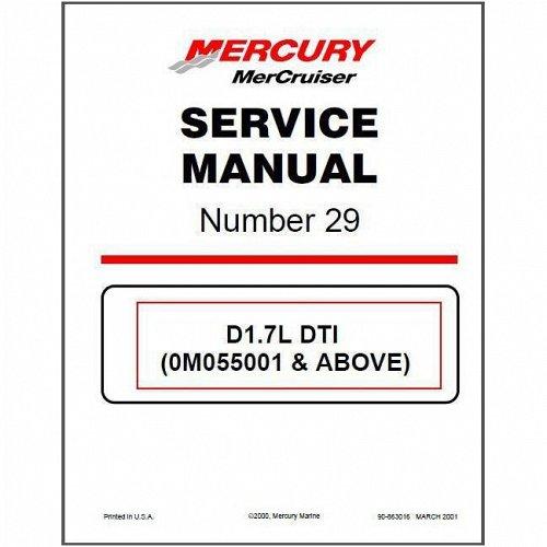 2000-2015 MerCruiser # 29 Sterndrive D1.7L DTI In‑Line Diesel Service Manual CD