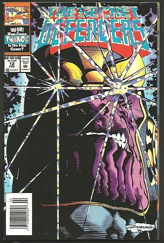 The SECRET DEFENDERS #12 HighGrade THANOS Holofoil Cover GUARDIANS OF THE GALAXY