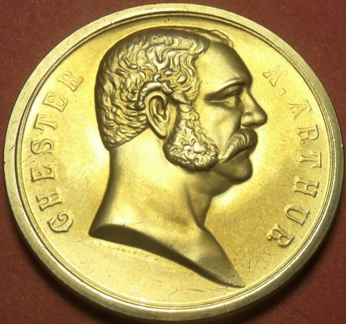 Gem Unc Chester a Arthur Presidential Bronze Inauguration Medallion~Free Ship