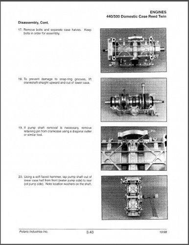 1999 Polaris Indy Series Snowmobiles Service Manual on a CD
