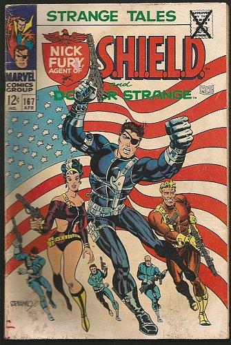 Strange Tales #163 DR. STRANGE / SHIELD VG STERANKO / ADKINS 1966