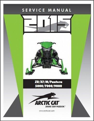 2015 Arctic Cat ZR XF M Pantera 5000 7000 9000 ( 4-Stroke ) Service Manual on CD