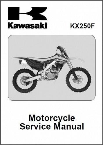 2013-2014-2015 Kawasaki KX250F Service Manual on a CD