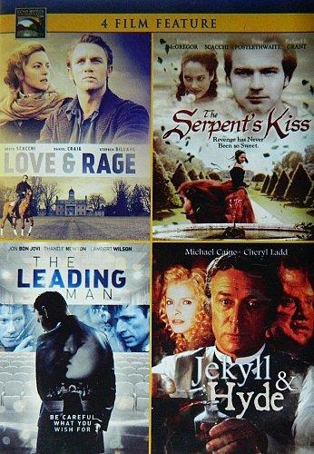4movie DVD JEKYLL & HYDE,SERPENT's KISS,LOVE & RAGE,LEADING MAN,Michael CAINE