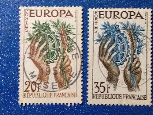 Europa 1957 Europa 2v France Mi 1157/8