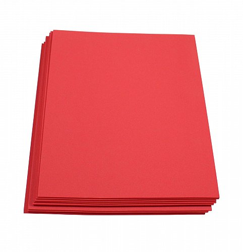 Craft Foam Sheets--9 x 12 Inches - Red - 10 Sheets-2 MM Thick