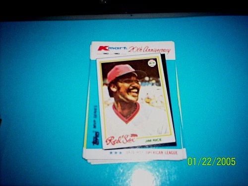 JIM RICE RED SOX 1982 TOPPS KMART 20TH ANNIVERSARY #33 OF 44