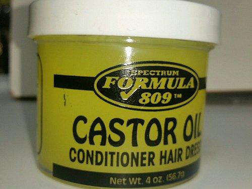 Castor oil condition hair dress / grease / pomade 4 ounce jar formula 809
