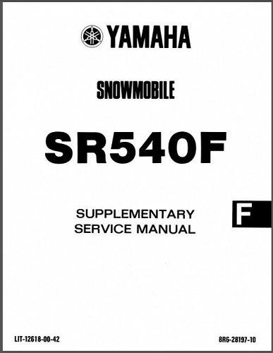 1984-1991 Yamaha SR 540 SRV ( SR540 ) Snowmobile Service Manual on a CD