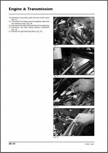Massey Ferguson AgTV 250 300 400 500 Quad ATV Service Manual on a CD
