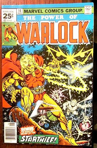 Warlock #14 SIGNED by Jim Starlin VF MARVEL COMICS Guardians of the Galaxy