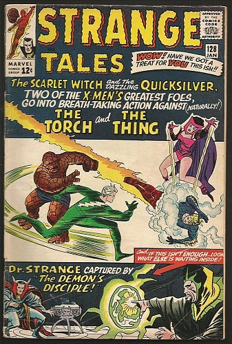 Strange Tales #128 DR. STRANGE Marvel Comics DITKO 1964 Thing & Torch