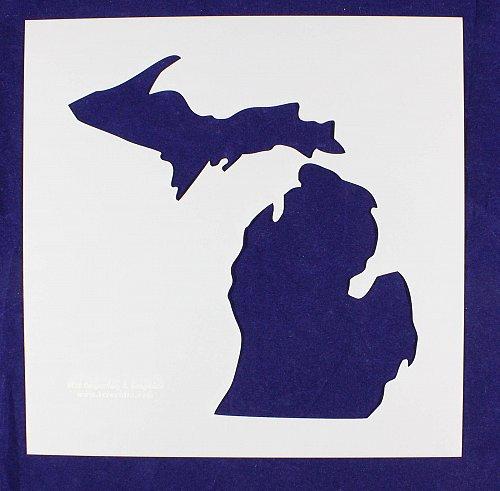 "State of Michigan Stencil Mylar 14 Mil 12"" H x 12""W - Paint /Crafts/ Template"