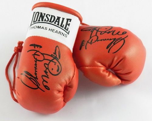 Autographed Mini Boxing Gloves Thomas Hitman Hearns